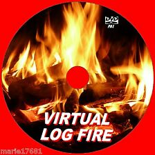 VIRTUAL CRACKLING LOG FIRE VIDEO DVD 9 GLOWING TV LOG FIRE SCENES TO VIEW NEW