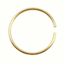 20G Surgical Steel Thin Small Silver Nose Ring Hoop Cartilage Piercing Stud