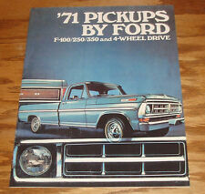 1971 Ford Pickup Sales Brochure 71 F-100 F-250 F-350