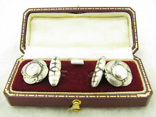 Georg Jensen Signed Vintage #9 Silver Mens Pair of Cufflinks