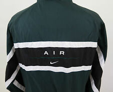Vintage Nike Swoosh Nylon Green Lined Embroidered Spellout Full Zip Jacket Large