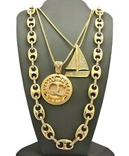 "NEW ICED OUT LIL YACHTY'S YACHT PENDANTS WITH 24"", 27""  & 30"" CHAIN SET."