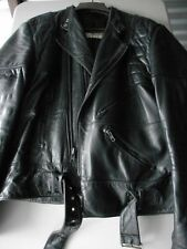 Vintage Wilsons Black Leather Jacket w/ Belt - Classic 80s Biker Style