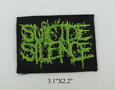 SUICIDE SILENCE EMBROIDERED ROCK BAND HEAVY METAL IRON ON PATCH T-SHIRT JACKET