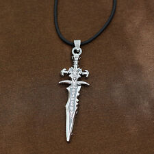 WOW Frostmourne Sword Of Lich King Arthas Pendant Chain Cosplay Necklace