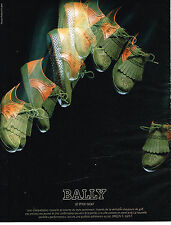 PUBLICITE ADVERTISING 044  1987  BALLY  chaussures style GOLF
