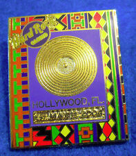 HOLLYWOOD FL GOLD RECORD FRAME SERIES SEMINOLE INDIAN PATTERN Hard Rock Cafe PIN