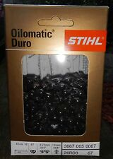 "One STIHL Duro 3  16"" Carbide Chainsaw Chain .325""P 67 Link .063""G"