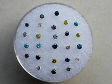 Multicolor diamond lot 25 total diamonds