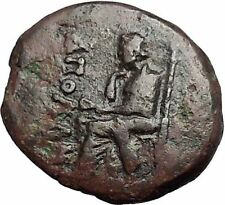 KOLOPHON in IONIA 50BC Poet Homer of ODYSSEY Apollo Ancient Greek Coin i55351