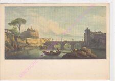 CP ART TABLEAU CLAUDE JOSEPH VERNET Le pont et le château de Saint Age
