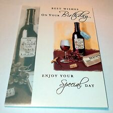 HAPPY BIRTHDAY RED WINE Best Wishes SPECIAL DAY CARD