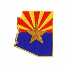 """Arizona State Flag  3"""" x 2.5"""" Sew Ironed On Badge Embroidery Applique Patch"""