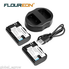 2 2000mAh LP-E6 Battery with Charger for Canon EOS 5D Mark II III EOS 70D - AU