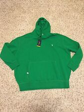 Polo Ralph Lauren Big and Tall Mens Green Performance Hoodie Sweatshirt NWT 4XB