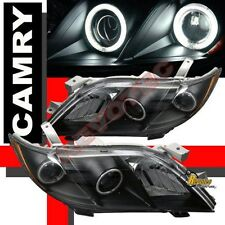 2007 2008 2009 Toyota Camry Dual CCFL Halo Angel Eyes Projector Headlights Black