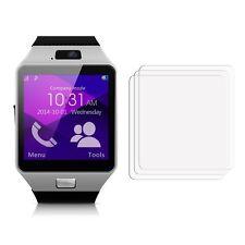 2 Anteriore Chiaro GEARMAX Smartwatch dz09 LCD Screen Display Protettore Pellicola Lamina