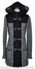 Exquisite Chanel 11A Classic Black Tweed Hooded Coat Jacket 36 NEW RARE