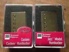 Seymour Duncan SH-11 Custom Custom SH-2N Jazz Humbucker Pickup Set Nickel Cover