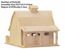 New Assembly DIY Education Toy 3D Wooden Model Puzzles of Farm Barn House