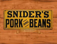 "TIN-UPS TIN SIGN ""Snider's Pork And Beans"" Kitchen Food Rustic Wall Decor"