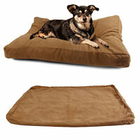Khaki Suede Material Pet Bed Cover Do It Yourself Dog Cat Zipper Cover Cushion