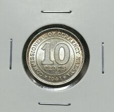 1941 - MALAYA KING GEORGE VI  10CENTS (AU)