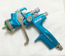 New in box SKY Blue HVLP WITH CUP Paint Spray Gun Gravity 1.3mm one set
