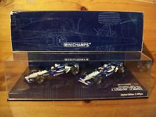 1/43 Twinset WILLIAMS FW24 RALF SCHUMACHER / J P Montoya 1-2 finitura Malaysia 2002