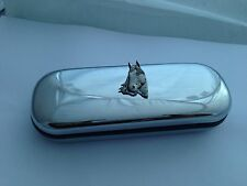 A1 Horse's Head  On a Chrome Glasses Case