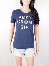 NWT Abercrombie By Hollister Women Embroidered Logo Graphic Tee Shirt Crew Neck