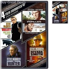 New 4 Film DVD Set: Steve McQueen The Hunter, Nevada Smith, Bullit, Papillon