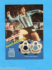 TOP985-PUBBLICITA'/ADVERTISING-1985- MONDO - IL PALLONE FIRMATO MARADONA