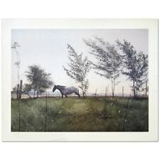 """William Nelson - """"Horse & Meadow"""" Limited Edition Lithograph, Numbered,  Signed"""