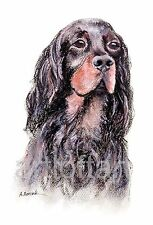 GORDON SETTER  DOG  ACEO Card Print by A Borcuk