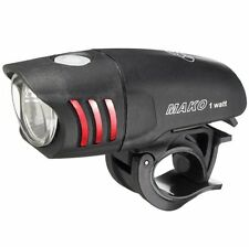 NITE RIDER Mako 1 Watt Black Front LED Headlight - Bike Bicycle Light NEW!