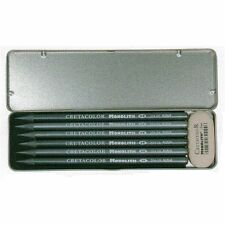 Cretacolor Artists MONOLITH Pencil Pocket Set. Solid Graphite Pencils & Eraser