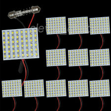 10PCS 48-3528 SMD LED Light Bulb Lamp Panel + Flexible Dome Festoon Adapter