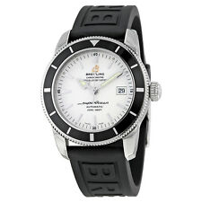 Breitling Superocean Heritage 42 Automatic Silver Dial Black Rubber Mens Watch