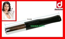DENICOTEA 78mm CHROME/BLACK  CIGARETTE HOLDER NON EJECTOR