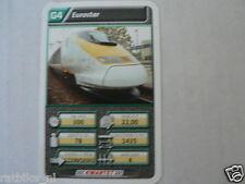 22 SUPER TRAIN G4 EUROSTAR  TREIN KWARTET KAART, QUARTETT CARD