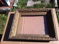Vintage 1900s Primitive Wood Chalk   Picture  Frame 8in x 10in