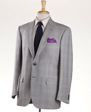 NWT $4495 BRIONI Light Gray-Green Check Wool Sport Coat US 50 R Two-Button