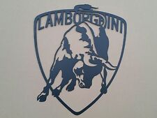 Lamborghini Badge 25 inch sign. Metal wall art. Black