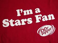 Dr. Pepper I'm A Stars Fan & Pepper Red Slogan DP Snapple Dallas TX T Shirt XL