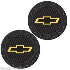 chevy chevrolet rock vehicle travel auto cup holder insert coaster can set 2