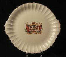 1937 George VI Coronation Plate Sovereign Potteries Canada With Handles