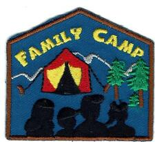 Girl Boy Cub FAMILY CAMP Camping Fun Patches Crests Badges SCOUT GUIDE Trip Day
