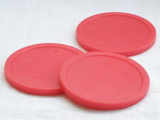 FASTER shipping 3pcs 75mm RED round Air Hockey table Puck Arcade GAME 20g