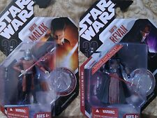 "Hasbro Star wars Darth Revan and Darth Malak 3 3/4"" collector coin figures"